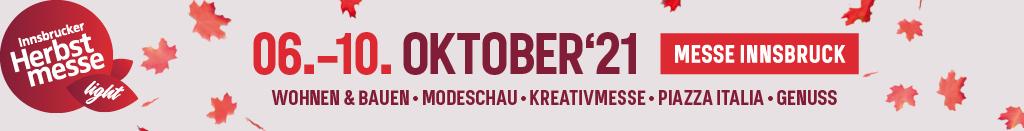 Logo der Innsbrucker Herbstmesse mit Datum der Veranstaltung
